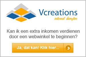 Webwinkel beginnen Vcreations